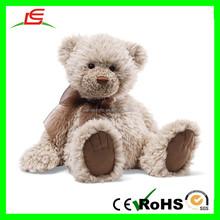 """E400 Furry Brown Teddy Bear 18"""" With Bow Tie Animal Stuffed Teddy Bear Plush"""