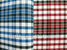 2015 fashion 100% cotton red and white plaid fabric