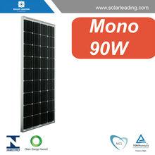 90w mono panel solar con células fotovoltaicas para el sistema de energía solar comercial