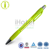 Fluorescent Yellow Advertisement Promotion Stylus Ball Pen Spring