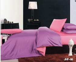 Pink and Purple Reversible 6 pc Bed in a Bag set