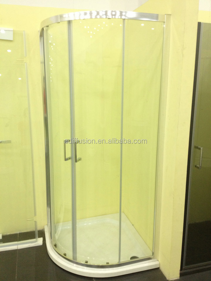 Double Wheels Round Corner Shower Stall Units Buy Round Corner Shower Stall