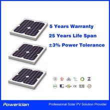 Powerician Small Power Mono Solar Modules Monocrystalline Silicon PV Panel 20Wp F0r Home System