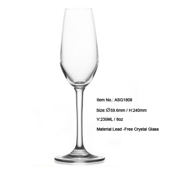 Asg1806 7ounce wedding champagne glass flutes led decorating beer glasses fluted shape led - Flute a champagne led ...