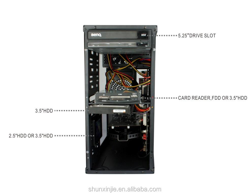 Horizontal Computer Atx Desktop Full Tower Gaming Computer Parts Pc