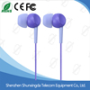 In-ear Series Cheap Plastic Headphone with 3.5mm Connector and Different Color