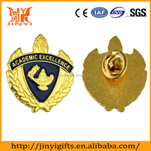 Popular promotional gifts gold plated military tin button badge