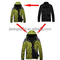 2014 Fashionable polyster waterproof shell outdoor hiking jacket mens C005