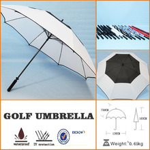 custom clear large white fancy golf umbrella with personalized design