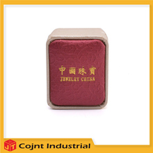 whole sale made in china low price leather jewelry box for ring