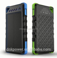 Dual USB 8000MAh External Battery Charger Solar Power Bank Pack Charger