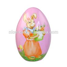 Caja de lata en forma de huevo para Pascua/ caja de lata regalo de Pascua