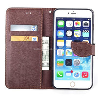 New Sale Wallet Style Cell Phone Cover, Colorful Leaf PU Leather Mobile Phone Case For iphone 6 plus 5.5inch Wholesale