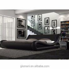 ENZO ITALIAN MODERN DESIGNERS DOUBLE OR KING SIZE LEATHER BED