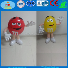 Inflatable M&M Chocolate Character for Store Display, Red and Yellow Inflatable M and M
