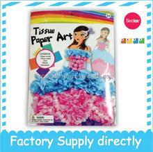 2015 Popular Tissue Paper Art- Princess Kit, DIY Paper Craft