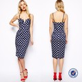Dongguan fabricante de prendas de vestir de moda, señoras nuevo vestido de la manera