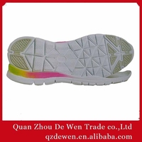 36# To 41# Adhesive Rubber Soles For Womens Mens Shoes, Thin Rubber Shoe Sole Company MOQ 1200 Pairs