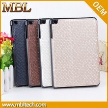 diamond shinning luxury leather pu flip case cover for mini ipad