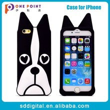 Promotion cheap 3d animal silicone phone case for iphone