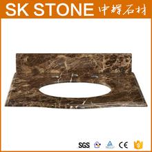 "Warwick 31"" Stone Top, Dark Emperador Marble island worktops"