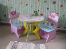 Fairy Children Dining table with chairs Wooden kids furniture