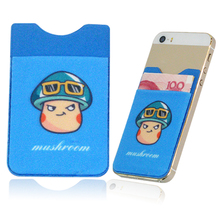 Widely used sticky microfiber card holder for mobile phone