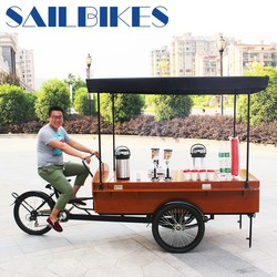 pedal cargo tricycle for coffee sale
