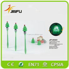 CE Christmas promotional flashing light fancy novelty pen