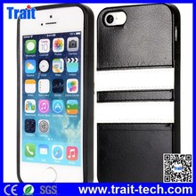 Coated TPU Case Soft leather cover for iPhone 5 5S wallet case,wholesale for iphone 5 custom back cover case