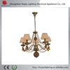 China light factory modern fabric chain chandelier with crystal