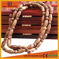 2015 Handmade New Chicken-wing wood wooden Buddhist Prayer Bead Tibetan Mala buddha bracelet hand chain for men bracelet jewelry