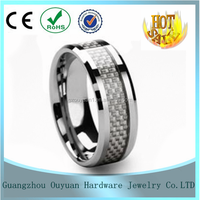 Wholesale Mens Tungsten Ring,Tungsten Wedding Ring with carbon fiber