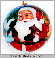 2015 Popular Design Christmas Glass Ball As Per Customer's Demand