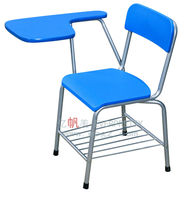 Student Chair with Writing Pad, Student Chair with Tablet Arm, Designer Sunmica Chair