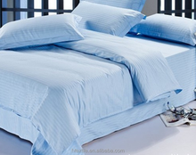 Factory hot selling Solid Color Hotel 4PCS Bedding sets white and blue
