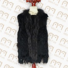 Rabbit fur gilet, rabbit fur vest, fur gilet for women