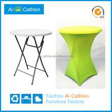 HDPE blow molded plastic small round bar table covers, high table bar