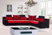 MT-PD51011 red color cushion summer bed -mat fabric sofa