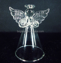 wholesale glass christmas angel ornaments, baby angel with blue wings,glass angel