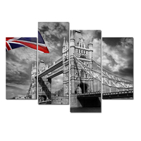 London Landscape Canvas Printing/Modern City View Digital Print/Wall Art Picture For Living Room