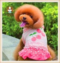 lovely cherry style dog dress for your puppy