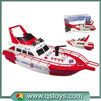 Chinese toy manufacturers harbour rescue rc fire boat with light and music