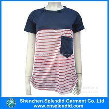 Most popular customized girls striped t-shirt