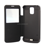 New Design 3800mAh Leather Flip Battery Charger Case for Samsung Galaxy S5