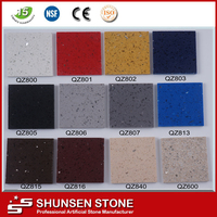 Sparkle quartz stone countertop slab price artificial quartz stone