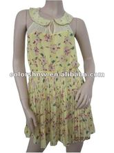 2012 Ladies' Yellow Printing Women Clothing