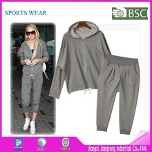 Fashion Women Tracksuit Set Custom French Terry / Fleece Tracksuit Wholesale