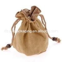 wholasale round bottom jute cashew nuts bag with drawstring jute food bag jute cocoa bag promotional jute bag
