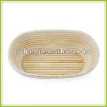 自然な籐の楕円形の籐パンかご